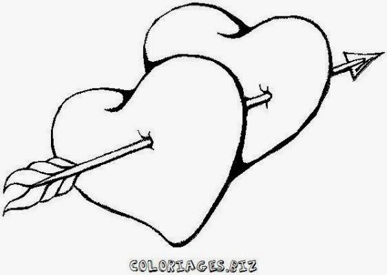 Desenho De Coracao Grande Para Imprimir: Corações - Desenhos Para Colorir - Colorir