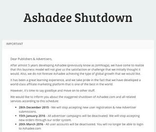 Ashadee bakal ditutup, mengimbau kenangan bersama Ashadee (Jomniaga)