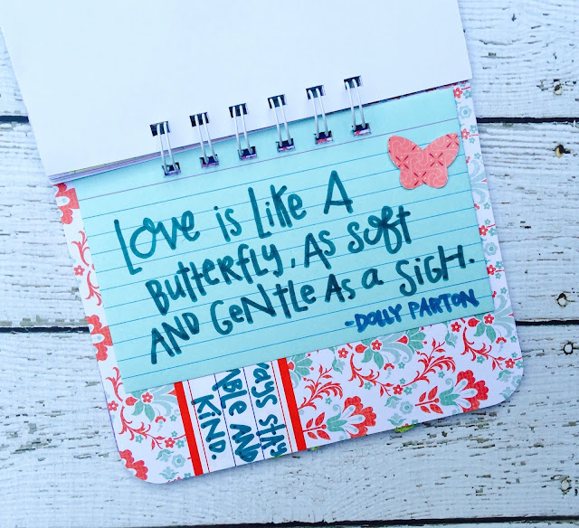 #butterfly #Love #smashbook #dolly #lyrics #quote #scrapbooking