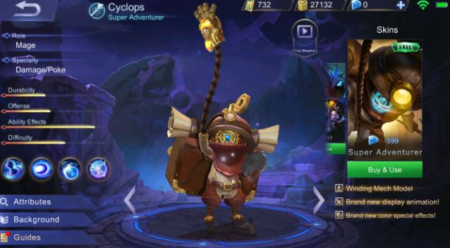 Guide dan Build Item Gear Cyclops Mudah Savage di Mobile Legends