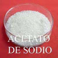 acetato de sodio o sódico