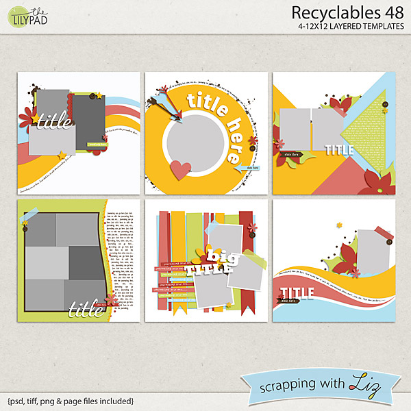 http://the-lilypad.com/store/Recyclables-48-Digital-Scrapbook-Templates.html