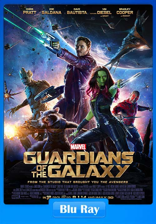 Guardians Of The Galaxy 2014 720p BluRay Dual Audio English Hindi x264 | 480p 300MB | 100MB HEVC
