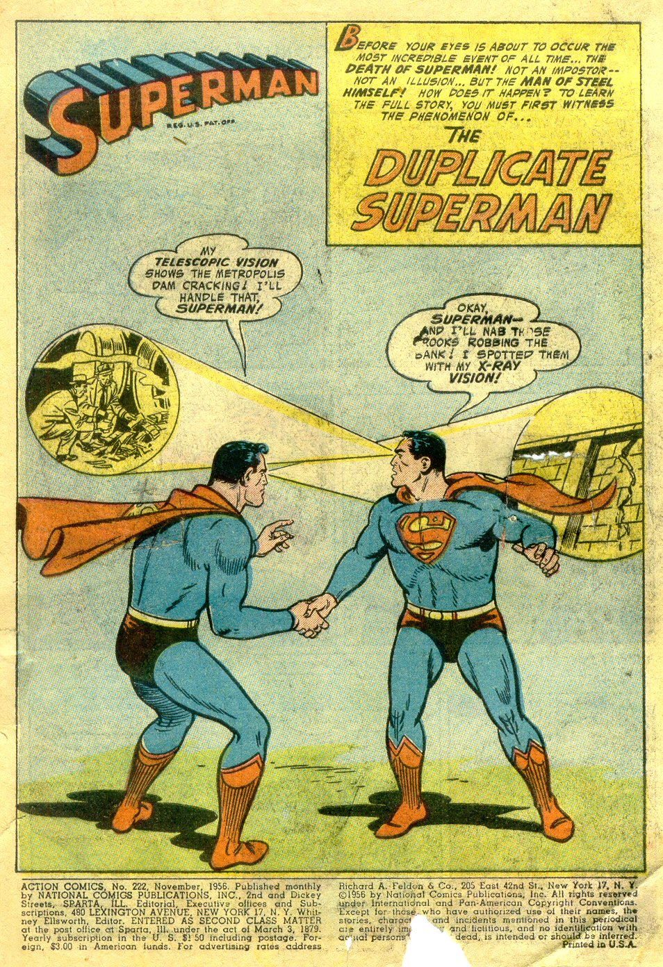 Read online Action Comics (1938) comic -  Issue #222 - 2