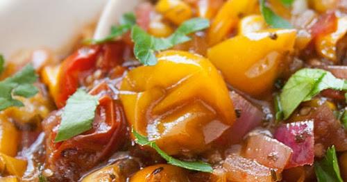 ... Free Goddess Recipes: Roasted Yellow Tomato Salsa Recipe with Cilantro