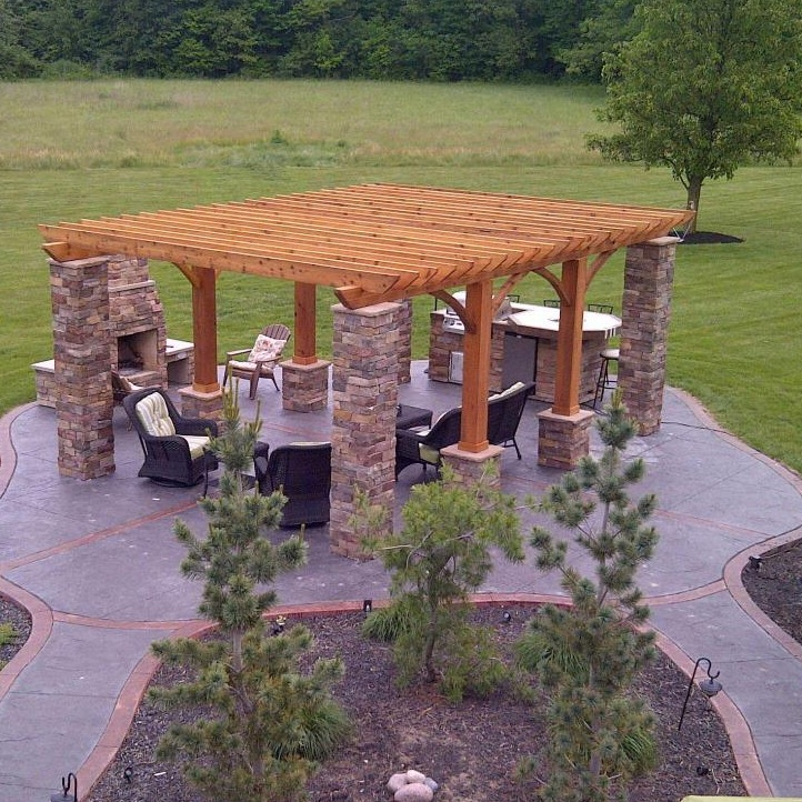 Outdoor Living: Decorative Concrete - Outdoor Living Space ... on Fancy Outdoor Living id=83893