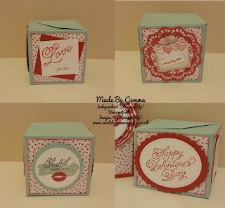 Stampin'Up! Poppin box card Sealed with Love