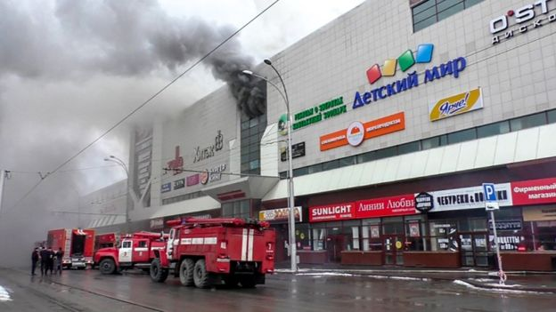 At least 53 die in Russia shopping mall fire