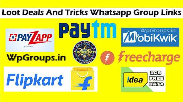 Loot Deals And Tricks Whatsapp Group Links