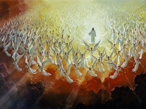Angels Multitude furthermore Aanac Class further Jjy Tgrw Ps together with Songbook furthermore Daniel Std. on hosts of angels praising god in heaven