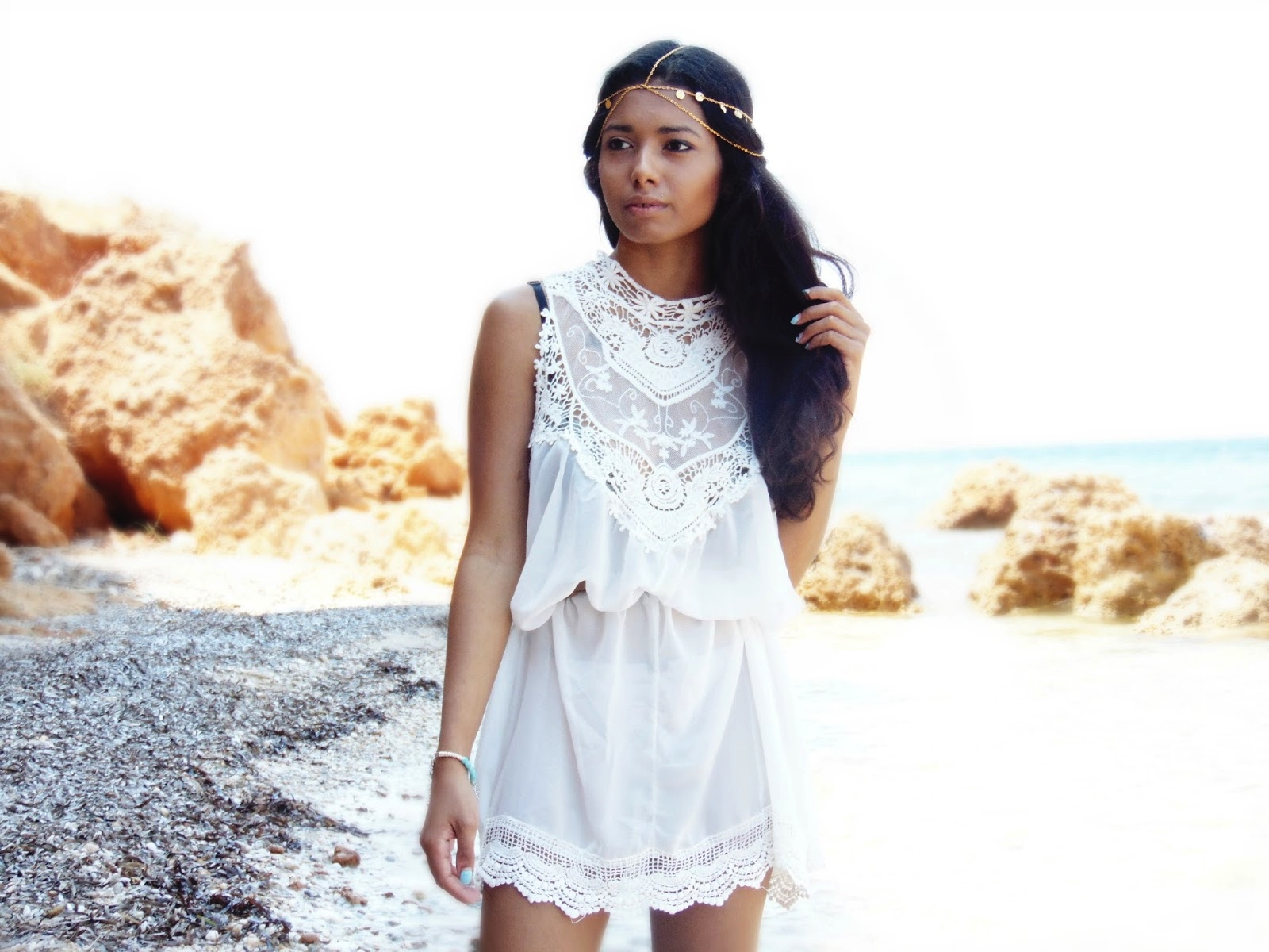 summer lace dress outfit
