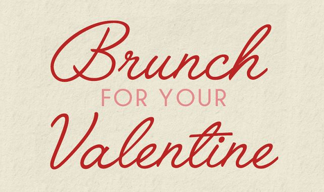brunch for your valentine infographic