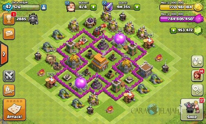 pertahanan terbaik untuk base war th 6 di clash of clans 4