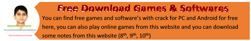 Free Download Games & Softwares