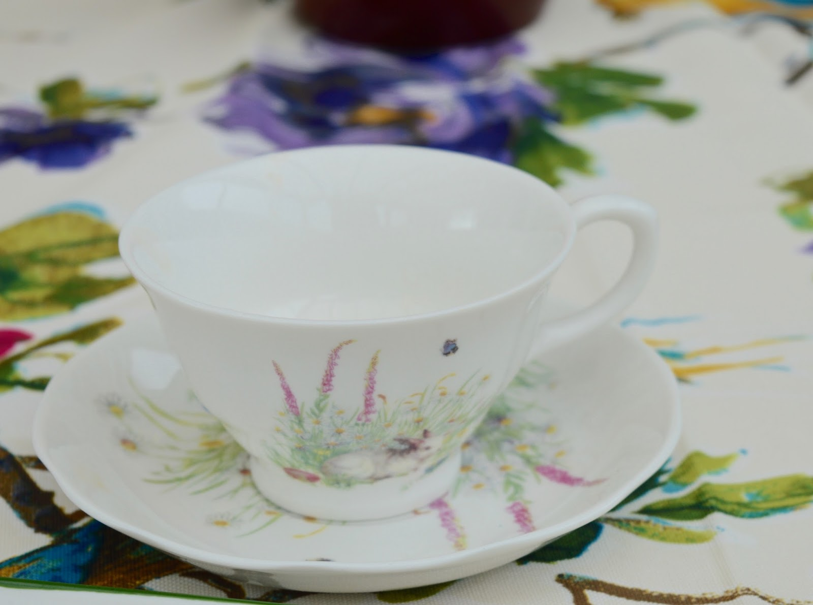 6 questions your children may ask about UK Easter traditions  - Easter bunny teacup and saucer