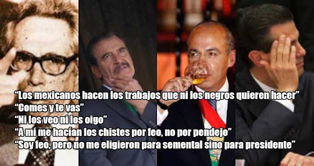 Frases célebres e imprudentes de presidentes mexicanos