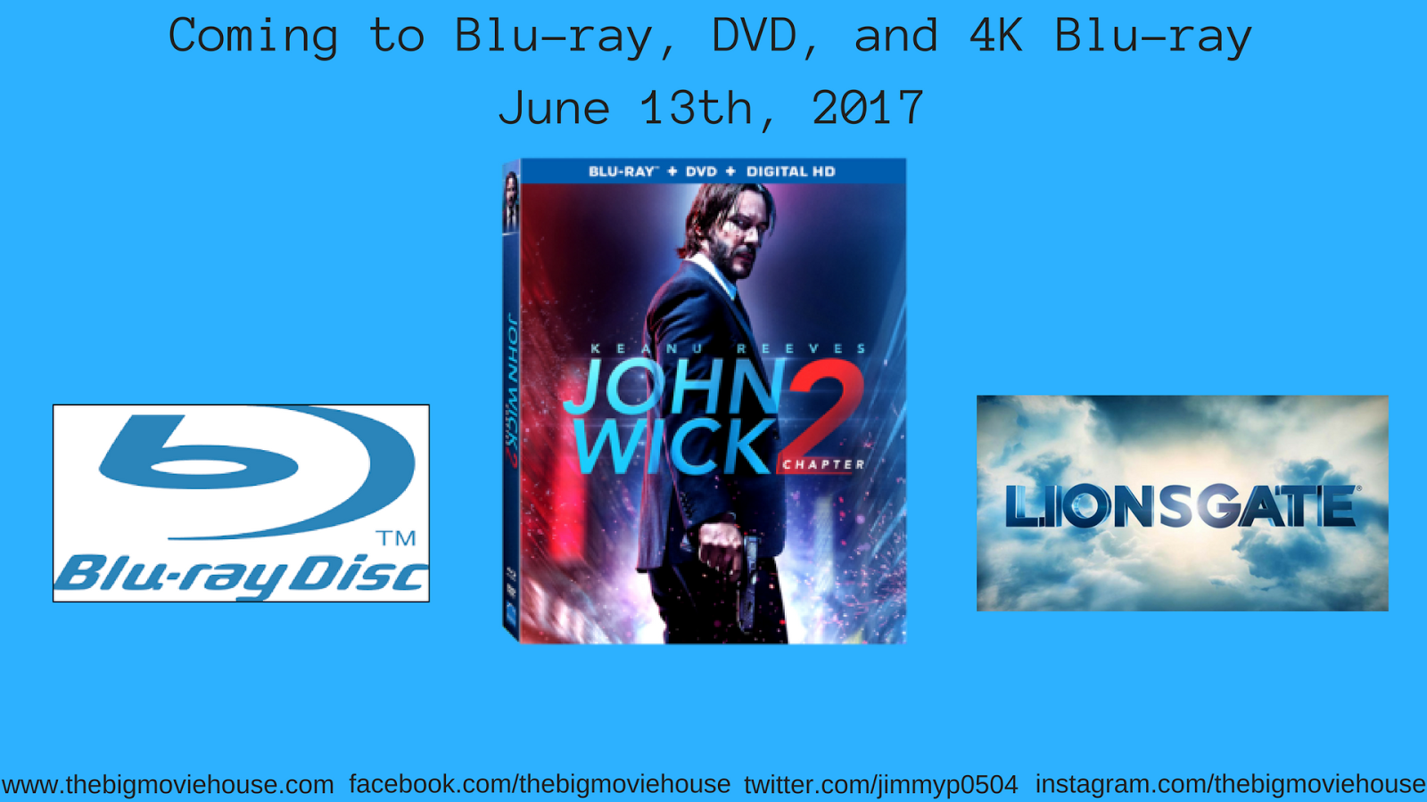 The Big Movie House John Wick Chapter 2 Coming To Blu Ray