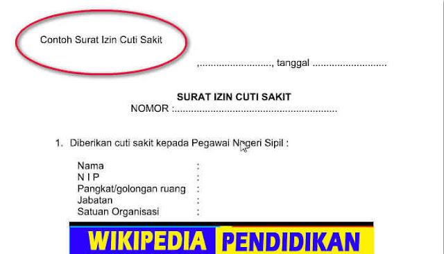 Download gratis Contoh Surat Izin Cuti Sakit Format Word