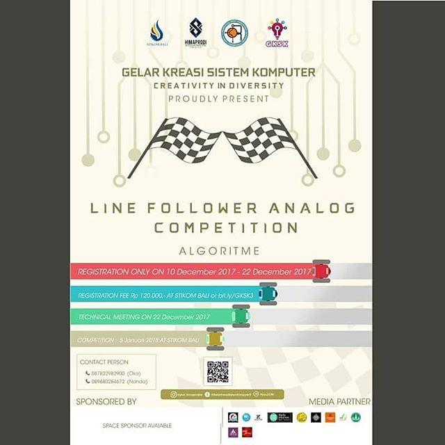 Lomba Line Follower Analog Competition 2018 Peserta Untuk SMA Sederajat Se-Bali