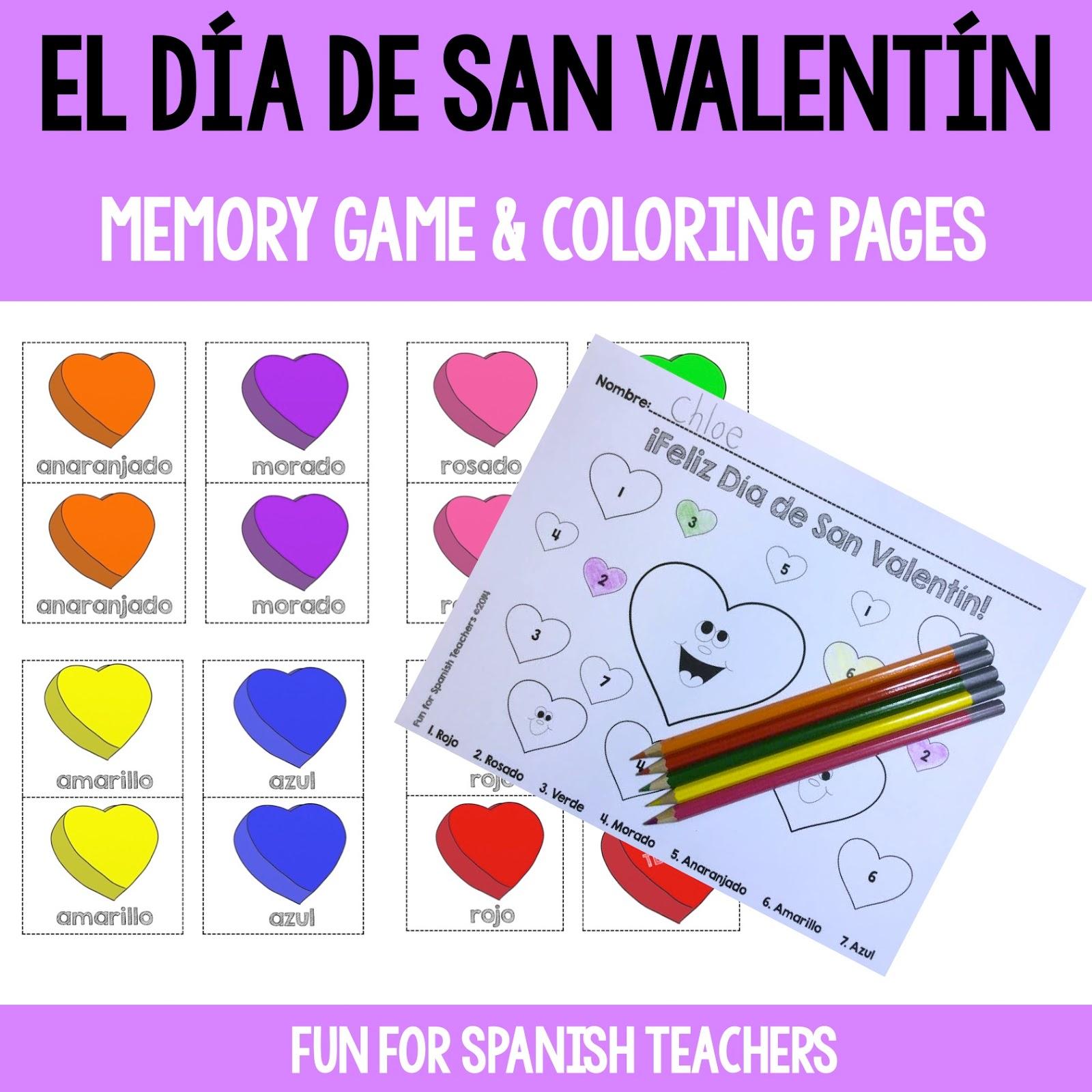 Fun For Spanish Teachers Celebrating Valentine S Day In
