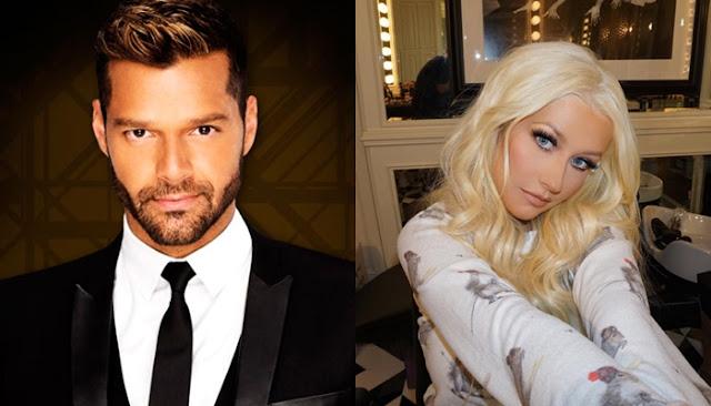 Christina Aguilera grabó un vídeo especial para la residencia de Ricky Martin