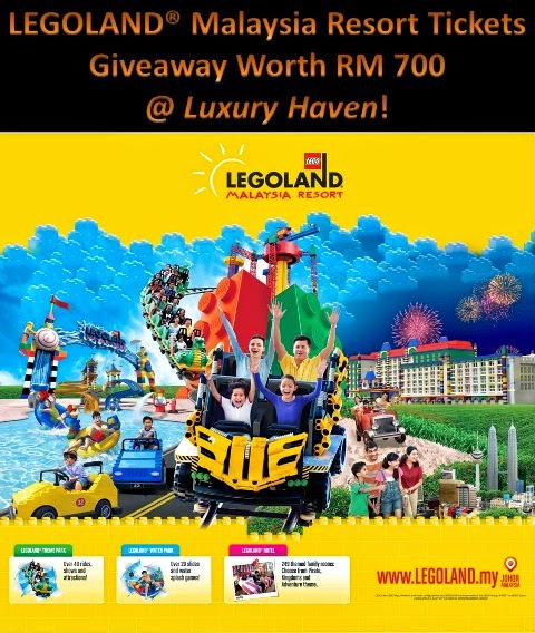 LEGOLAND Malaysia Resort Tickets Giveaway Worth RM 700! | Luxury Haven │ Award-winning Singapore Lifestyle Blog
