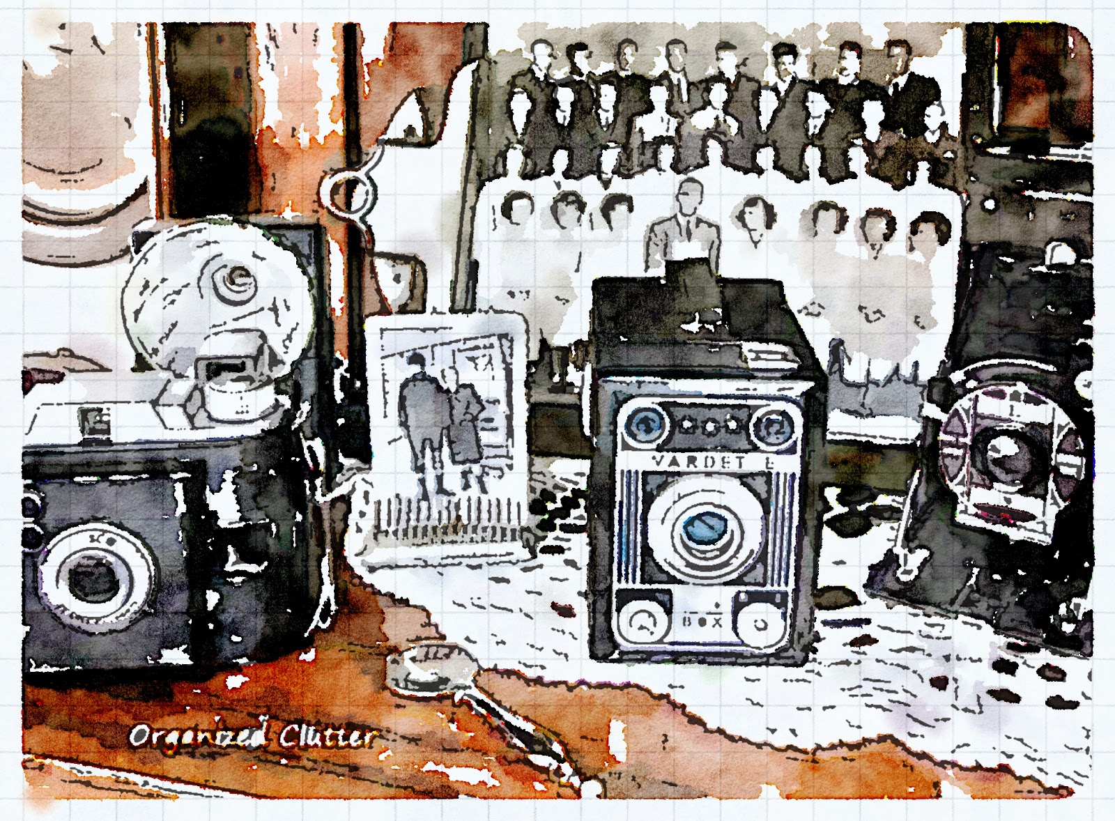 Waterlogue Cameras & vintage photos www.organizedclutterqueen.blogspot.com