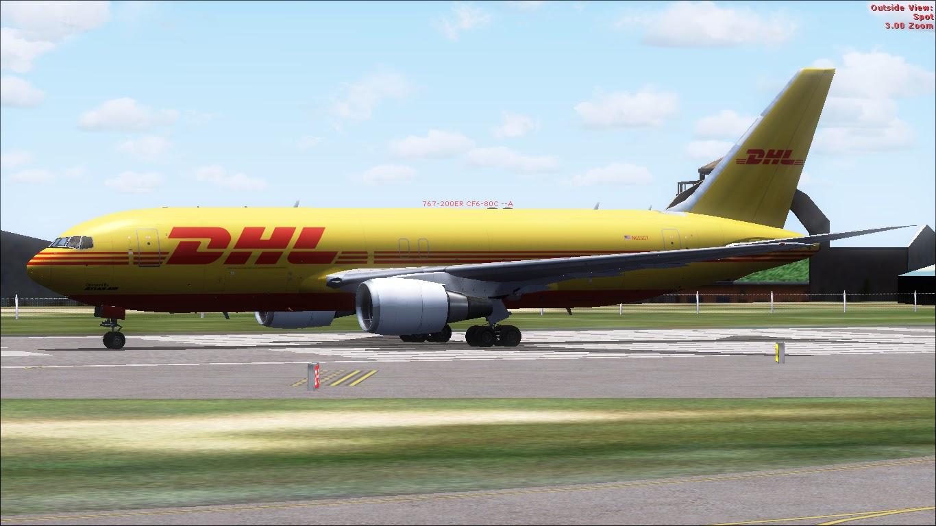 FlyRepaints : SkySpirit-Boeing 767-200F DHL (Opf By Atlas