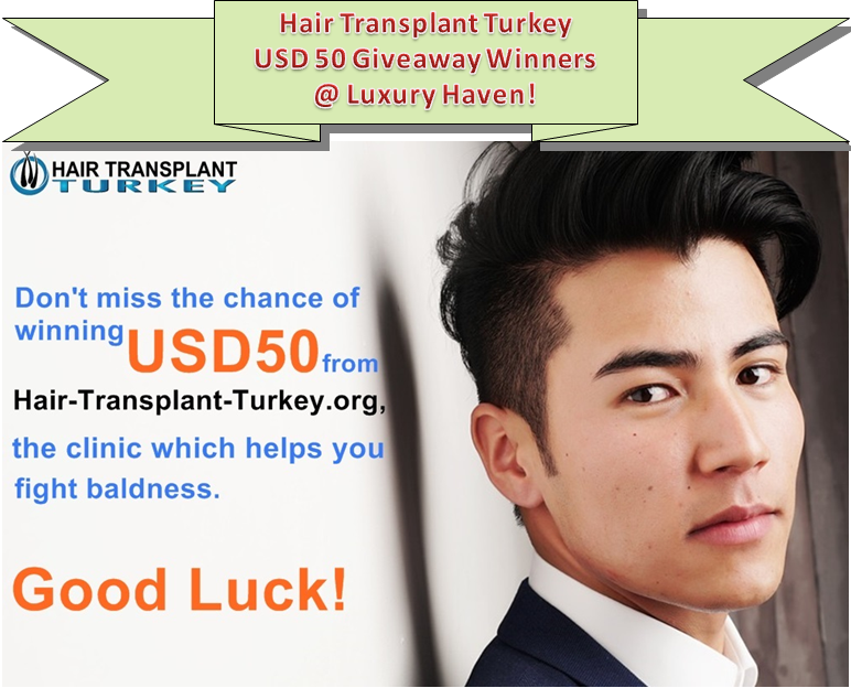 fue hair transplant turkey giveaway winners