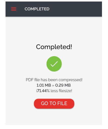Resize ukuran PDF di HP sukses