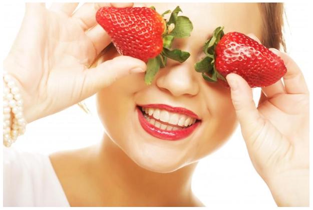 Image result for strawberry slices for eyes