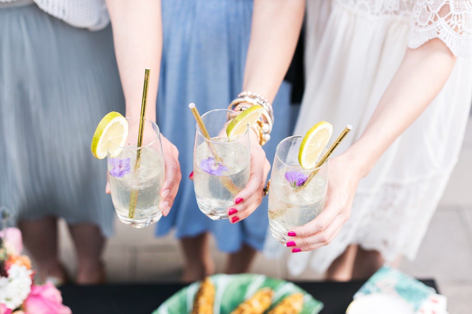 Celebrating the first day of summer with girlfriends and St-Germain cocktails