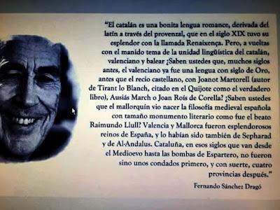 Fernando Sánchez Dragó, catalán, bonita lengua romance
