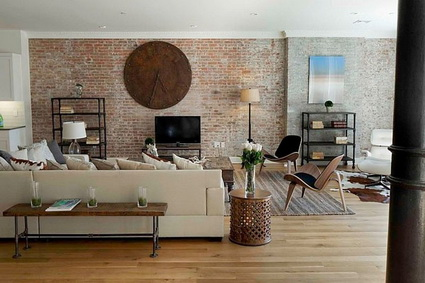 Living rooms with exposed brick 1
