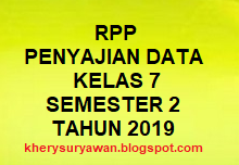 Download RPP Penyajian Data Kelas VII Semestar 2 K13 Tahun 2019