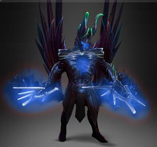 Fractal Horns of Inner Abysm Crystalline Blue