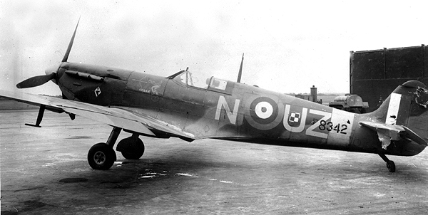 Spitfire with battle damage, 29 August 1941 worldwartwo.filminspector.com