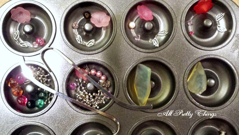 Muffin Tin challenge: angel charms, sterling silver, sea glass, wire wrapping, bookmarks, ooak jewelry :: All Pretty Things