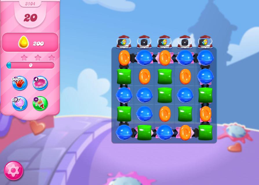 Candy Crush Saga level 3104
