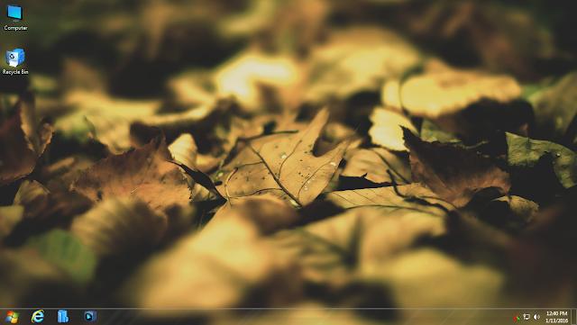 Ghost Windows 7 Lite Autumn (32Bit & 64Bit)  Chuẩn MBR & UEFI