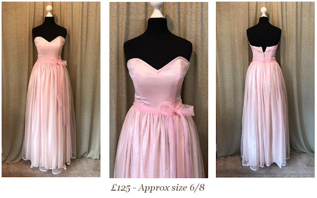 baby pink vintage prom dress size 6/8 form Vintage lane bridal in Bolton
