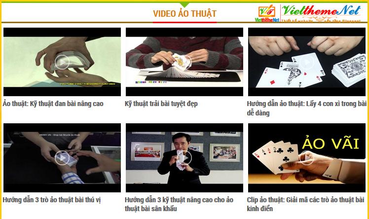 Chuyên mục hiển thị khi bài viết là Video