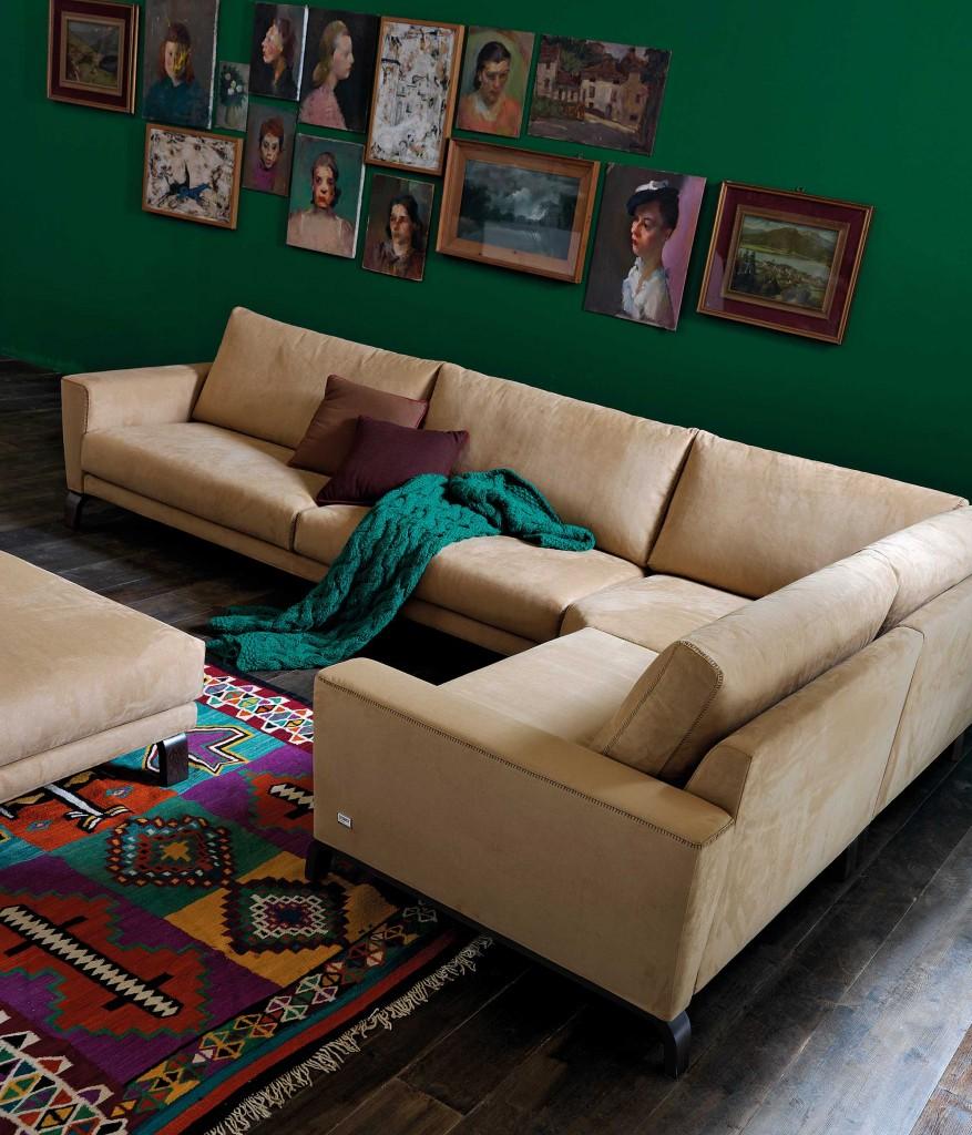 Modul Sudut Sofa L Untuk Hidup Interior Dan Furniture Rumah
