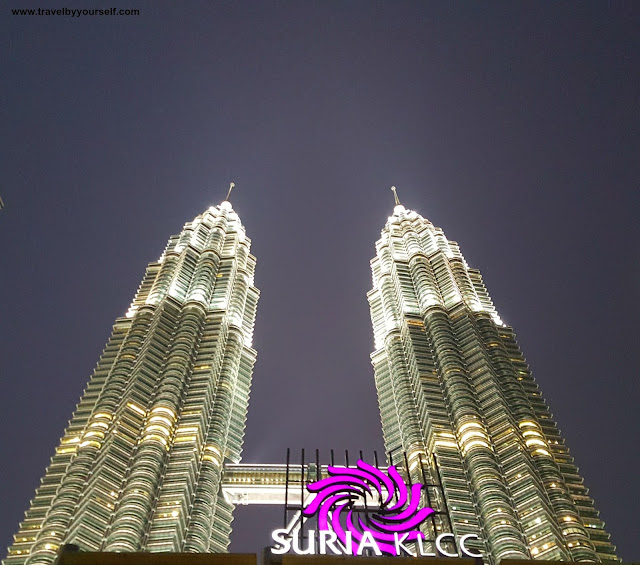 Petronas Towers at Night  from Gardens View