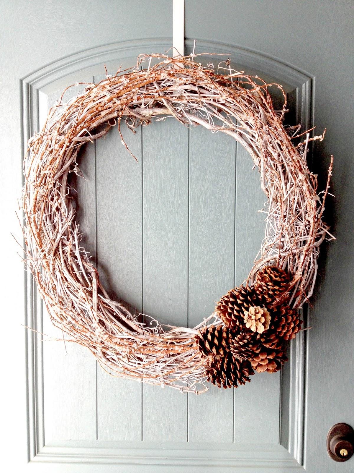 Life Love Larson Diy Natural Winter Wreath