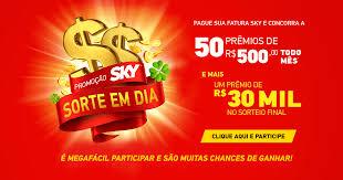 Promoção Sky Sorte em Dia 2019