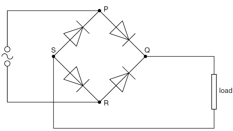 midpoint m and bridge b rectifiers