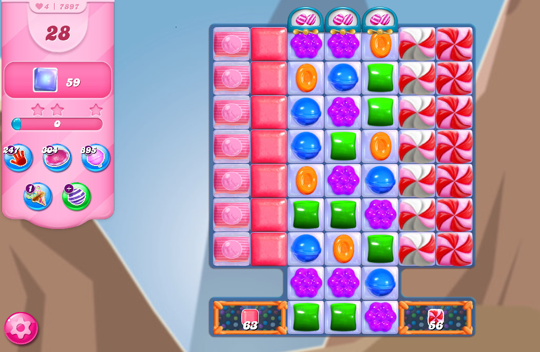 Candy Crush Saga level 7897