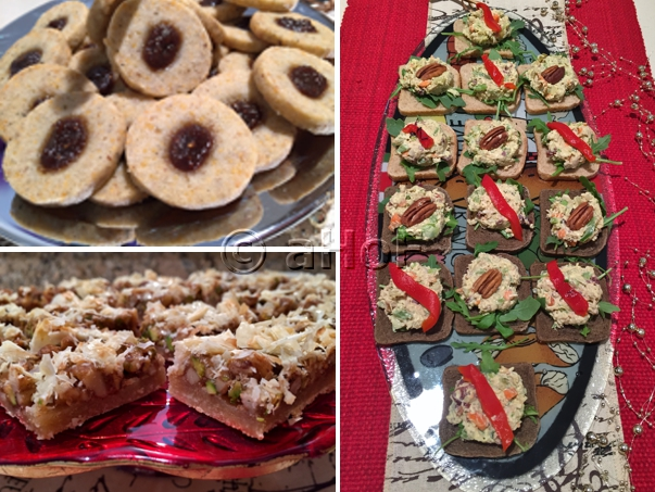 Open House:Savory Blue Cheese Coins, Uniquely Fine Chicken Salad, Baklava Bars