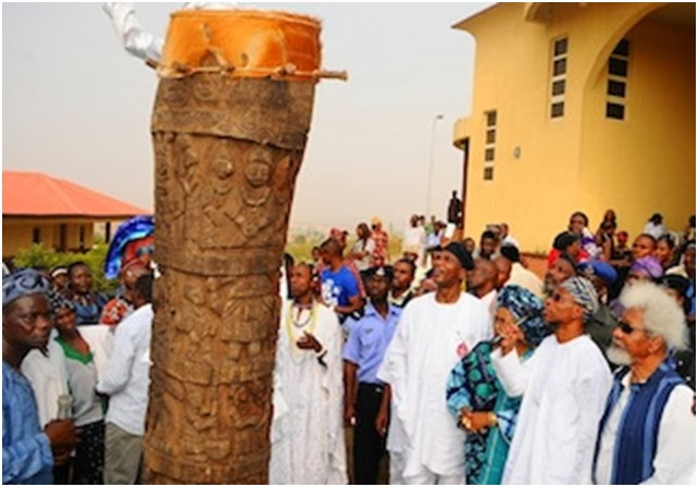 world's tallest drum nigeria